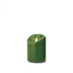 Candela piccola verde a led con fiamma movibile - Luminara