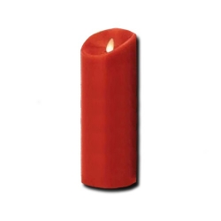 Candela grande rossa a led con fiamma movibile - Luminara