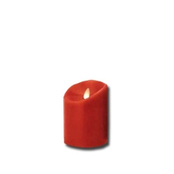 Candela piccola rossa a led con fiamma movibile - Luminara