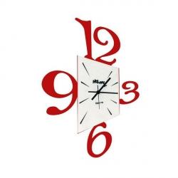 Orologio Prospettiva, Rosso Scuro - Arti e Mestieri