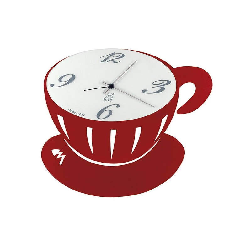 Orologio pausa rosso arti e mestieri idea regalo design for Orologio arti e mestieri amazon