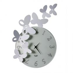 Orologio Butterfly Tondo, Alluminio - Arti e Mestieri