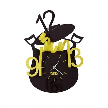 Orologio chef nero e giallo arti e mestieri idea for Orologio arti e mestieri amazon