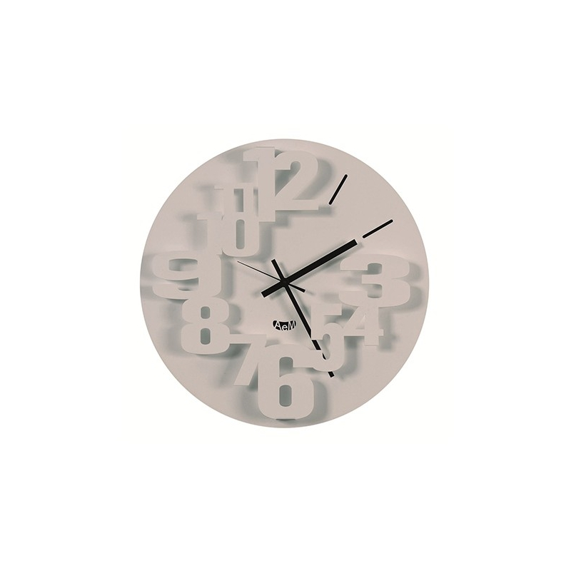 Orologio perseo bianco arti e mestieri idea regalo design for Orologio arti e mestieri amazon
