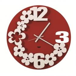Orologio Flower-Storm, Rosso - Arti e Mestieri