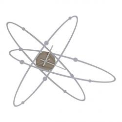 Orologio Atomo New, Alluminio - Arti e Mestieri