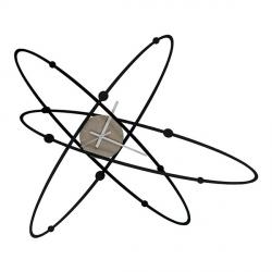 Orologio Atomo New, Nero - Arti e Mestieri