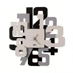 Orologio Big Sitter, Nero, Alluminio e Bianco - Arti e Mestieri