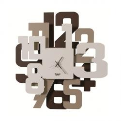 Orologio Big Sitter, Cortene, Beige e Bianco - Arti e Mestieri