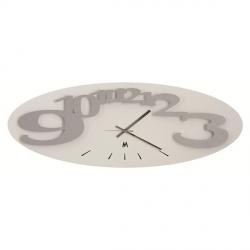Orologio Corel Orizzontale, Alluminio e Bianco - Arti e Mestieri