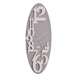 Orologio Corel Verticale, Bianco e Alluminio - Arti e Mestieri