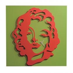 Orologio Diva, Rosso e Verde - Arti e Mestieri