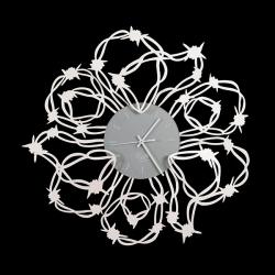 Orologio Spinato, Bianco - Arti e Mestieri