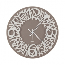 Orologio Twisted, Bianco e Nocciola - Arti e Mestieri