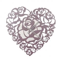 Orologio Cuore Rose, Lavanda - Arti e Mestieri