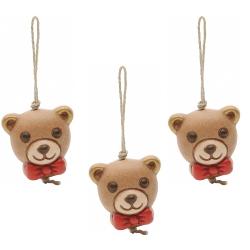 Confezione 3 charm chiudipacco teddy - Thun