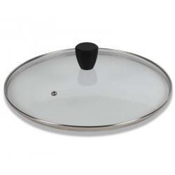 Coperchio vetro Cm. 32 pomolo soft touch - Pentolpress