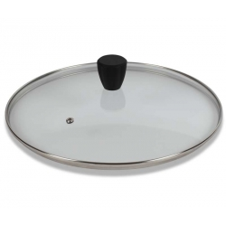 Coperchio vetro Cm. 38 pomolo soft touch - Pentolpress