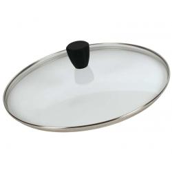 Coperchio ovale vetro pomolo soft touch - Pentolpress