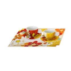 Set 2 tazze cappuccino con 2 tovagliette Colombia - Thun