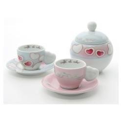 Set 2 tazzine espresso con zuccheriera Amore - Thun