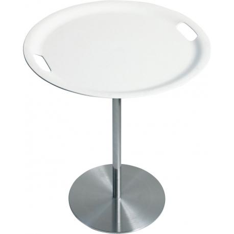 Alessi JM12 WI piano e vassoio in ABS Op-la Vassoio//tavolino base in acciaio inossidabile bianco.