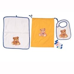 Sacca asilo nido Teddy boy (sacca, asciugamano, bavaglino, calzini antiscivolo 12 mesi) - Thun