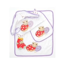 Sacca asilo nido Lalla girl (sacca, asciugamano, bavaglino, calzini antiscivolo 12 mesi) - Thun