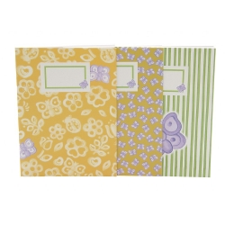 Set 3 notebook A6 allover butterfly - Thun