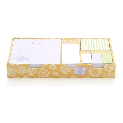 Sticky note set allover butterfly - Thun