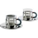 Set di due tazze da caffè con sottotazza - Alessi