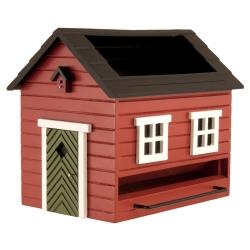 "Mangiatoia per uccelli con bagno ""Red House"" - Wildlife Garden"