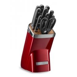 Ceppo con 10 coltelli, Rosso Metallizzato - Kitchenaid