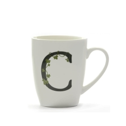 Atupertu, Mug lettera 'c' Ml. 380 - La Porcellana Bianca