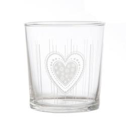 Babila, Bicchiere cuore Cl. 35 - La Porcellana Bianca