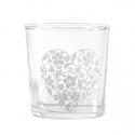 Babila, Bicchiere cuore/fiori Cl. 35 - La Porcellana Bianca