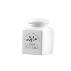 Conserva, Barattolino ceramica Lt. 0,175 chiodi di garofano - La Porcellana Bianca