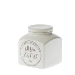 Conserva, Barattolo ceramica Lt. 0,5 aglio - La Porcellana Bianca