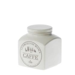 Conserva, Barattolo ceramica Lt. 0,5 caffe' - La Porcellana Bianca