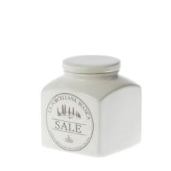 Conserva, Barattolo ceramica Lt. 0,5 sale - La Porcellana Bianca