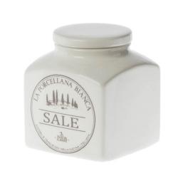 Conserva, Barattolo ceramica Lt. 1,1 sale - La Porcellana Bianca