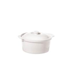 Cortona, Casseruola tonda con coperchio d Cm. 23 - La Porcellana Bianca