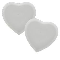 Cupido, Set 2 piattini dolce cuore Cm. 17x17 - La Porcellana Bianca