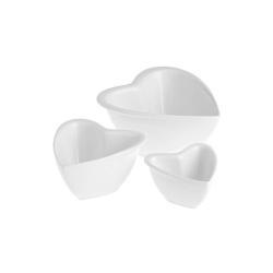 Cupido, Set 3 ciotoline cuori - La Porcellana Bianca