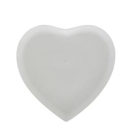 Cupido, Vassoio cuore Cm. 28x28 - La Porcellana Bianca