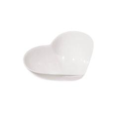 Cupido, Ciotola cuore Cm. 21x22,5x7 - La Porcellana Bianca