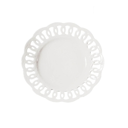 Firenze, Piatto traforato Cm. 30 - La Porcellana Bianca