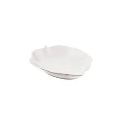 Foglie, Vassoio Cm. 23x15,8 - La Porcellana Bianca