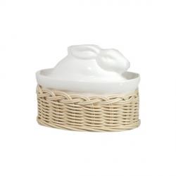 Midollino, Supporto terrine casseruola lepre/anatra Cm. 10x7 - La Porcellana Bianca