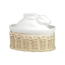 Midollino, Supporto terrine casseruola lepre/anatra Cm. 16x11 - La Porcellana Bianca